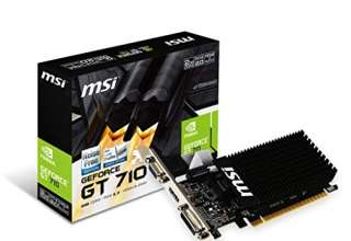 Msi GeForce GT710 2GD3H LP Scheda Grafica, Nero