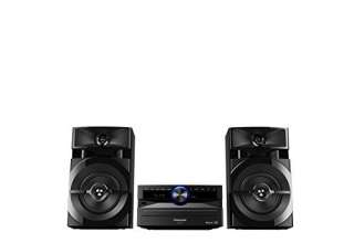 Panasonic SC- UX100E-K Sistema Mini, 300 W, Speaker a 2 Vie, Woofer da 13 cm, Lettore CD, CD-R/R W, Bluetooth, USB, Radio 30FM/15AM RDS, AUX, Audio di Qualità, Illuminazione Blu, Nero