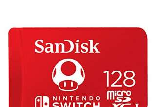 SanDisk MicroSDXC UHS-I Scheda per Nintendo Switch 128 GB, Rosso (Red)
