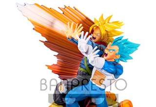 Banpresto 80553 - Dragon Ball Super Master Stars Diorama II Vegeta & Trunks - The Brush, 20 cm