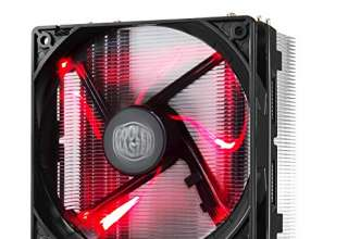Cooler Master Hyper 212 LED Ventola per CPU '4 Heatpipes, 1x Ventola da 120mm PWM , LED Rossi' RR-212L-16PR-R1