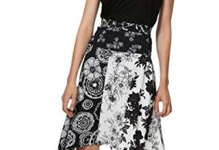 Desigual Skirt Knee Paola Woman Black Gonna Donna