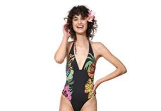 Desigual Swimwear One-Piece Sandy Woman Black Costume da Bagno Donna