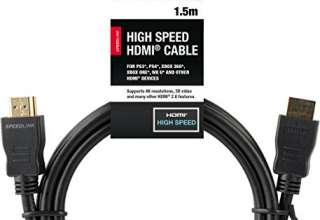 Speedlink Hdmi Cavo per Playstation PS3/PS4, Supporta Risoluzione 4K in 3D, 60 FPS, 2160P, Hdmi 2.0, Ethernet, 1,5M