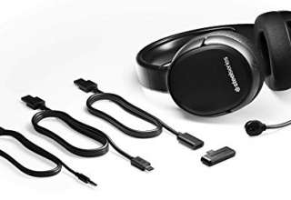 SteelSeries Arctis 1 Wireless Cuffie da Gioco Wireless USB-C Wireless, Microfono Clearcast Rimovibile, PlayStation 4, Senza Fili, Nero