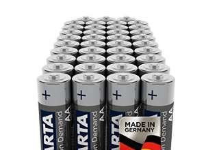 Varta Pile Power on Demand Confezione 40 Batterie Alcaline, Tipo AA LR6 Mignon