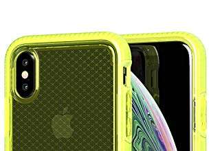 Tech 21 Evo Check Custodia Protettiva per Apple iPhone X/iPhone XS - Giallo Neon