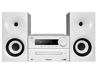 Trevi HCX 1080 BT Sistema Stereo HiFi con CD, Mp3, USB, Line-In, Bluetooth, Radio FM PLL e Presa Cuffie, Bianco
