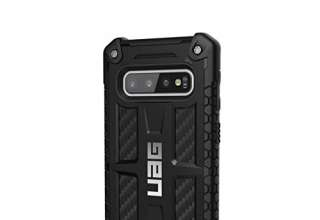 Urban Armor Gear Monarch per Samsung Galaxy S10 Custodia Protettiva Cover con Standard Militare Americano Case [Compatibile con Il Qi Wireless, Pelle] - Look Carbonio